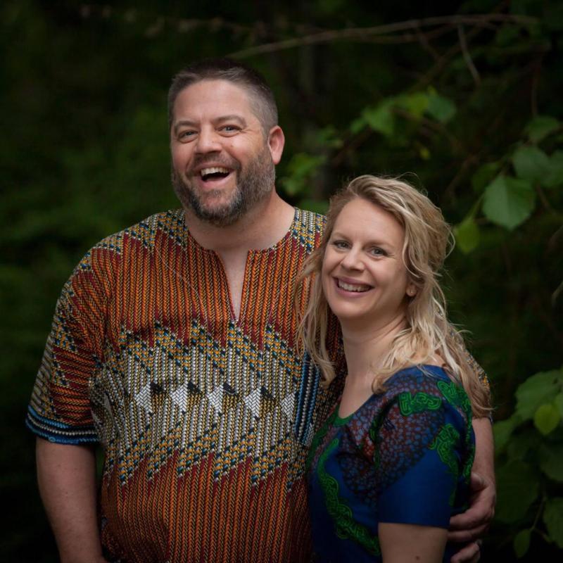 Portrait of Eric & Katie Dodson