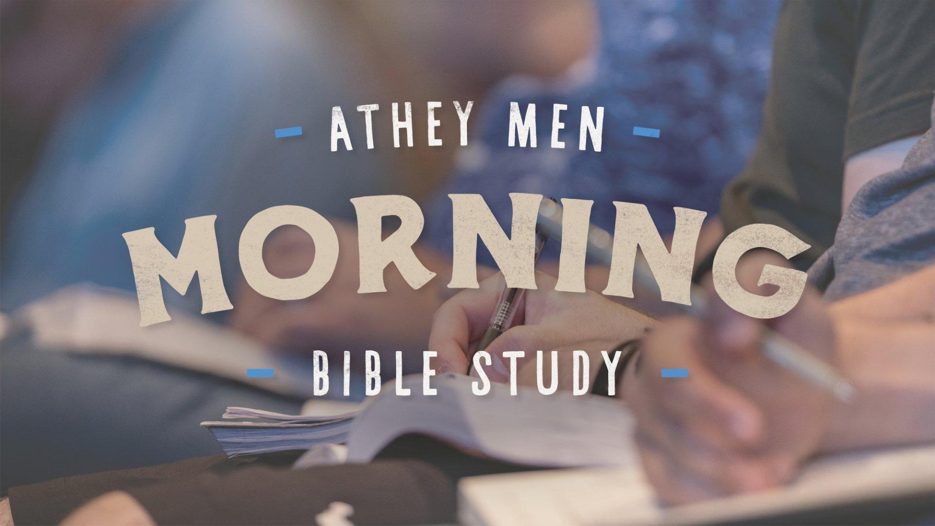 Poster for Men's Morning Bible Study