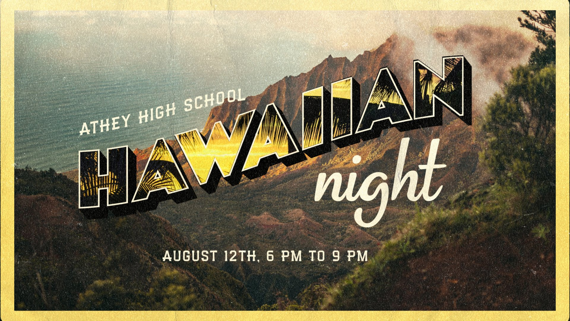 Poster for HS Themed Nights: Hawaiian Night