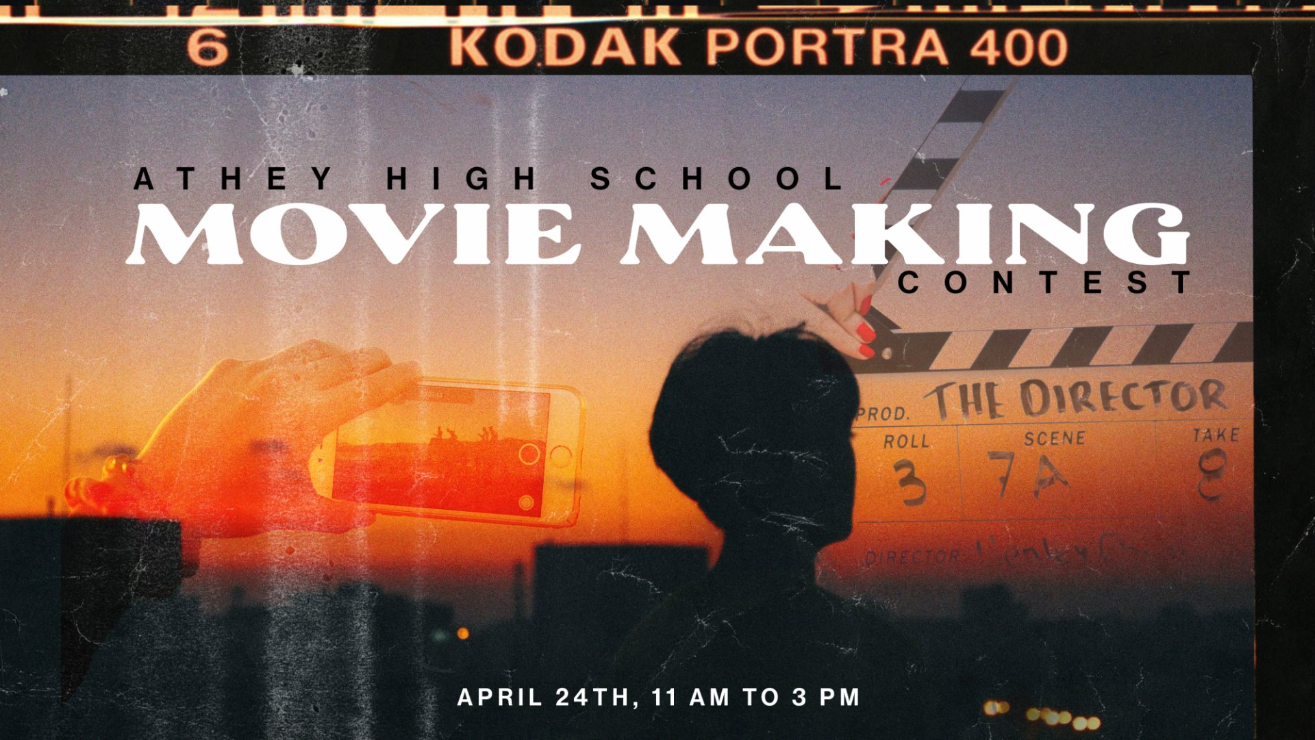 Poster for High School Movie Making Contest