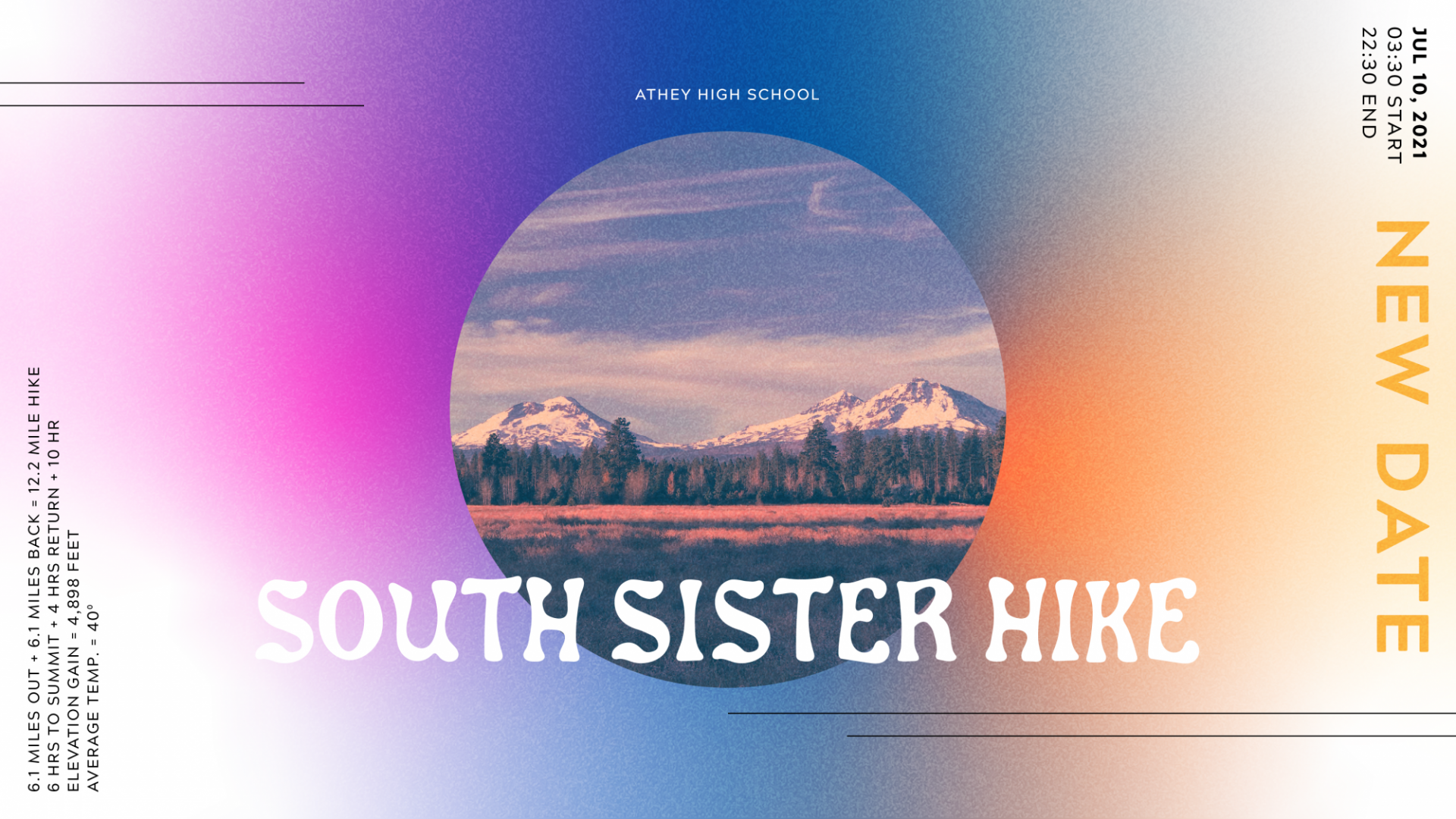 Poster for HS South Sister Hike