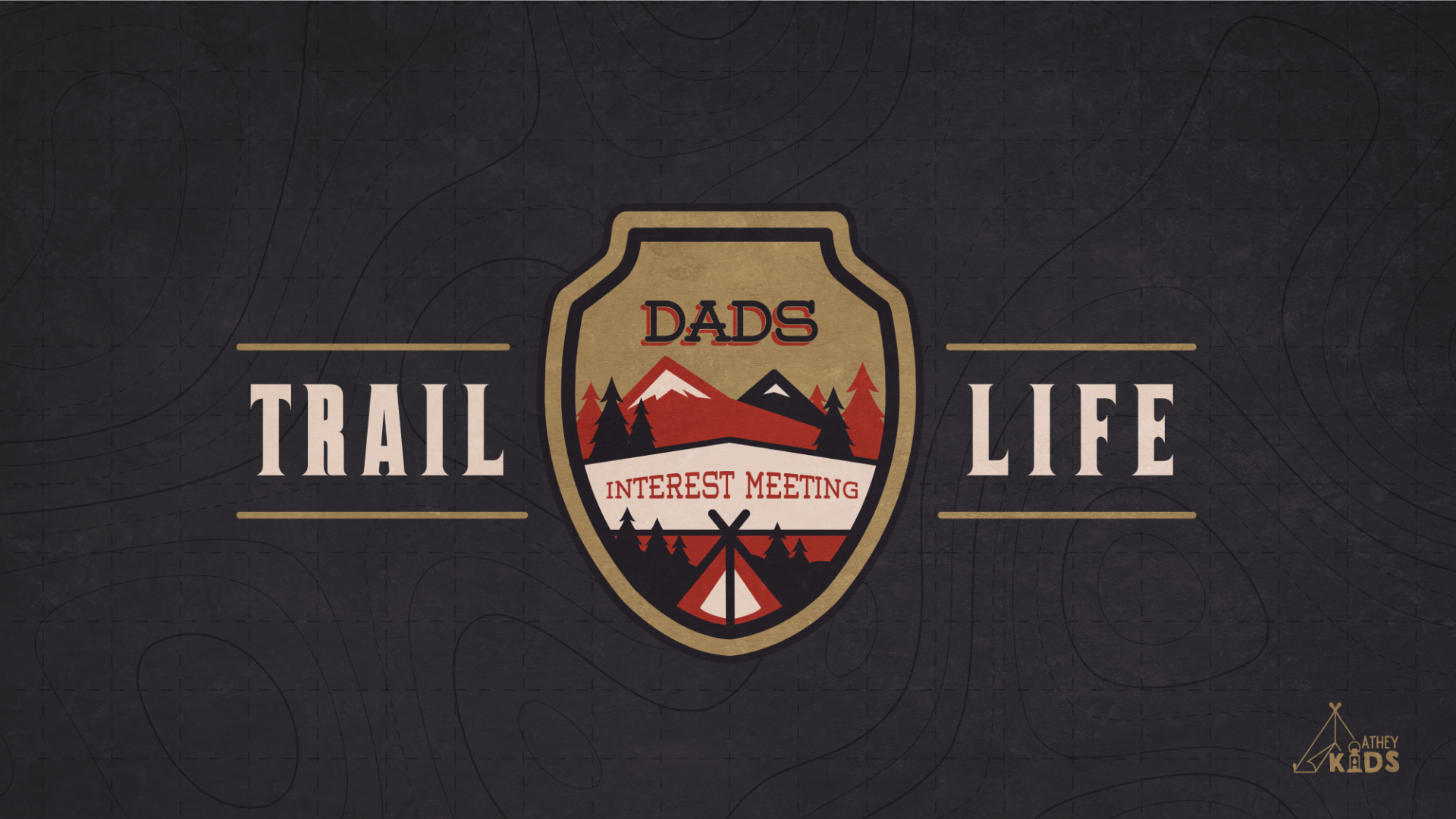 Poster for Trail Life Dads Interest Meeting