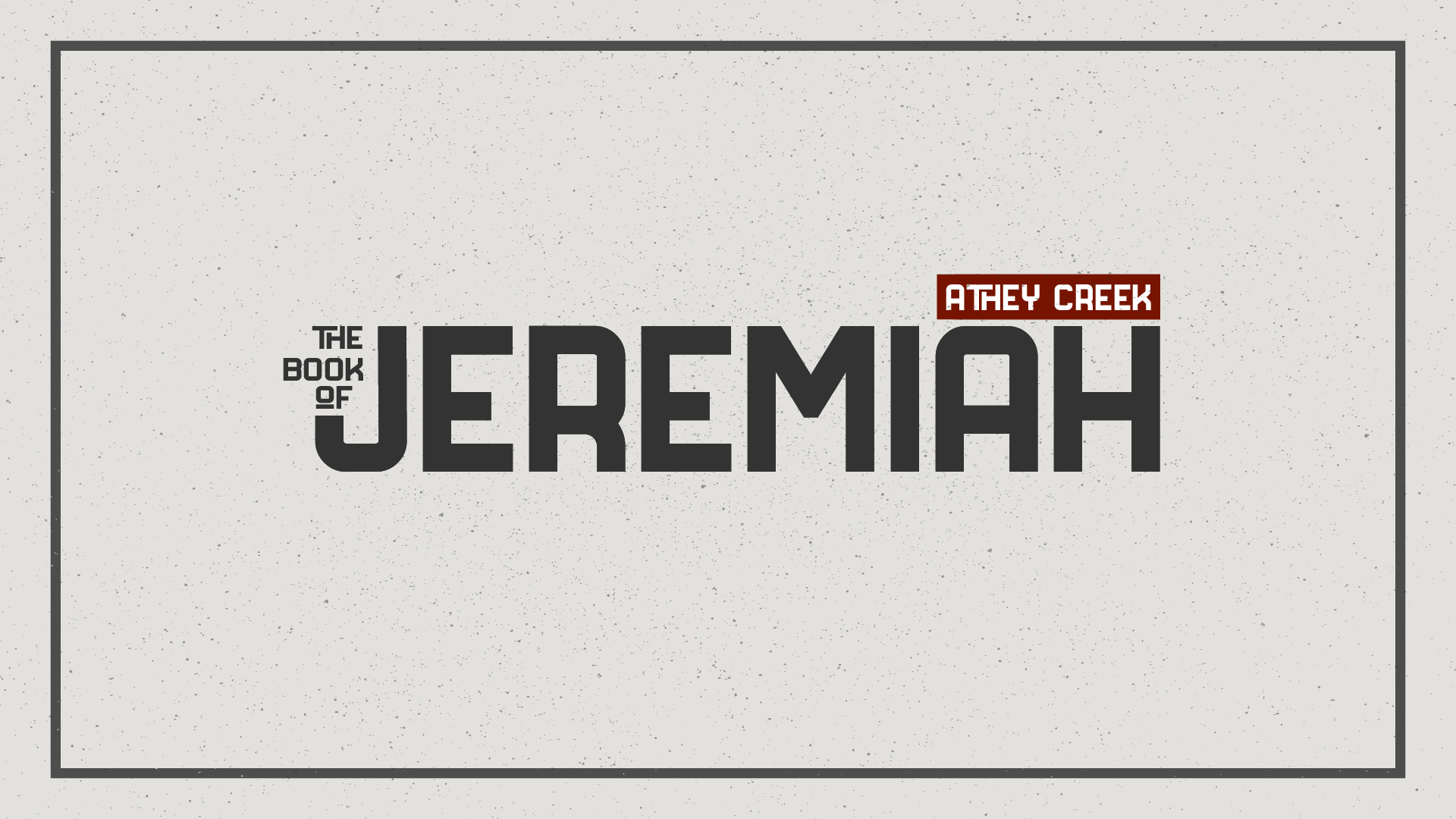 Teaching artwork for Jeremiah