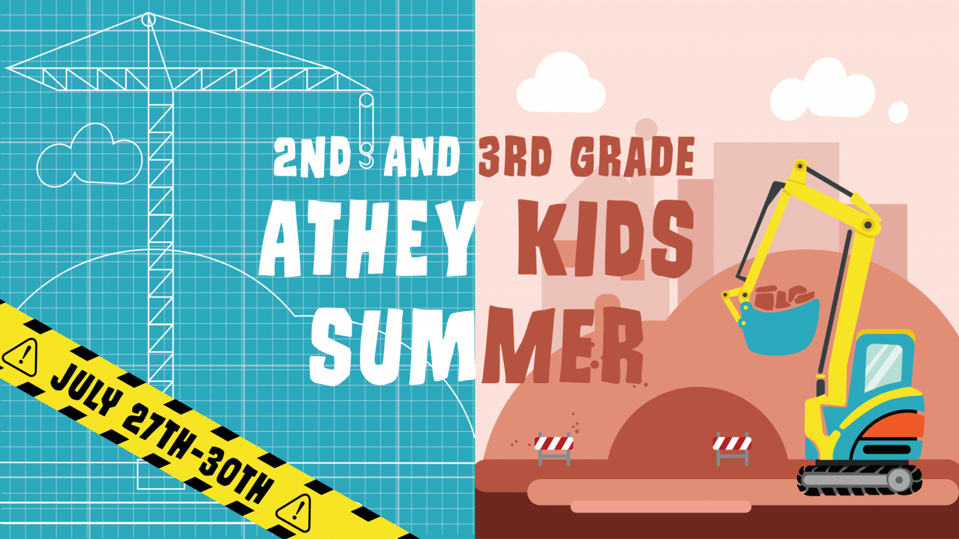 Poster for Athey Kids Summer 2nd and 3rd grade