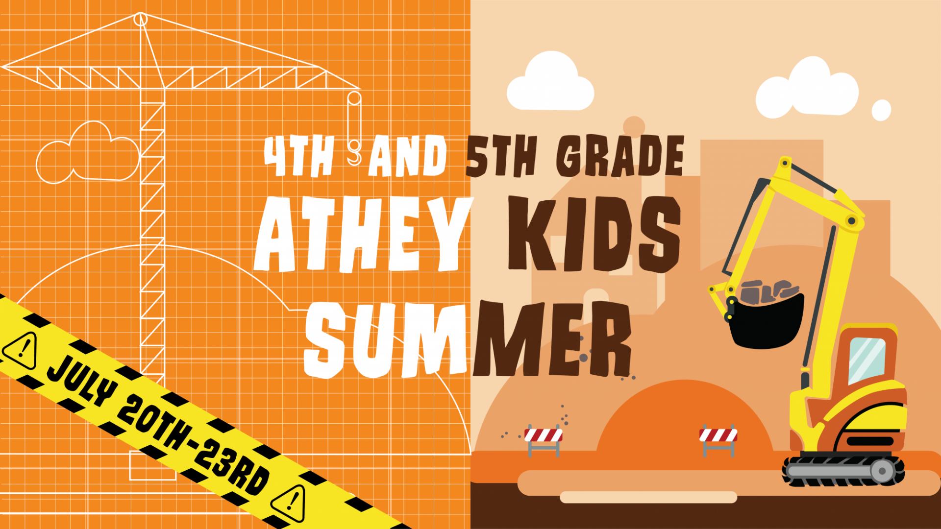 Poster for Athey Kids Summer 4th and 5th Grade