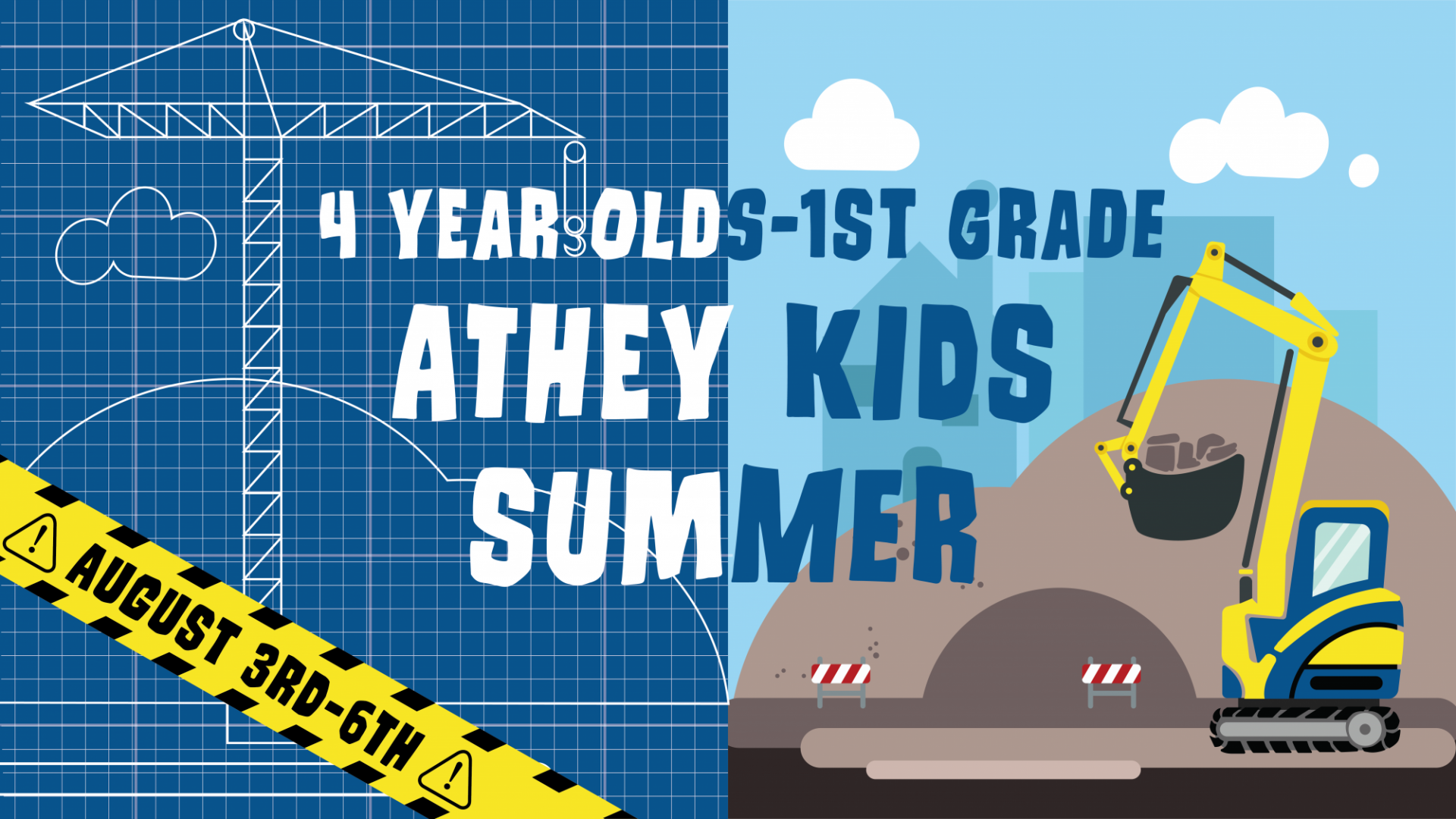 Poster for Athey Kids Summer 4 year olds-1st grade