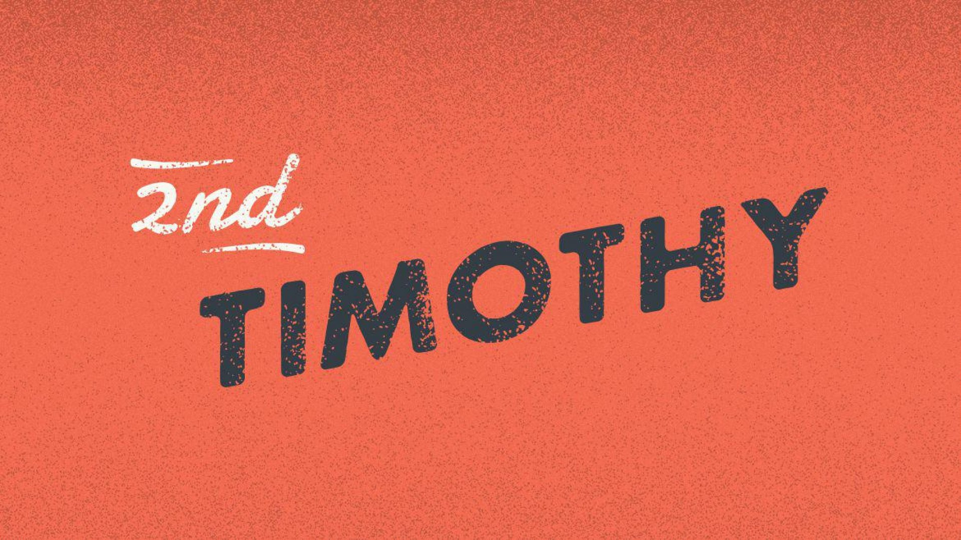 Teaching artwork for 2 Timothy