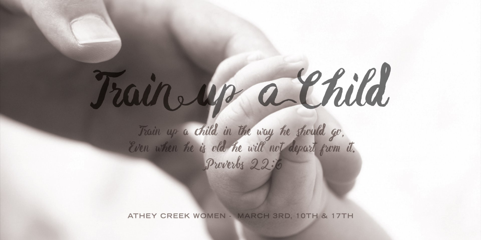 Poster forTrain Up A Child | Parenting With Godly Wisdom