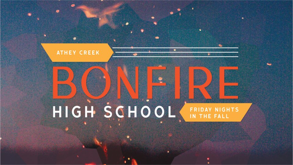 Poster forHigh School Bonfire