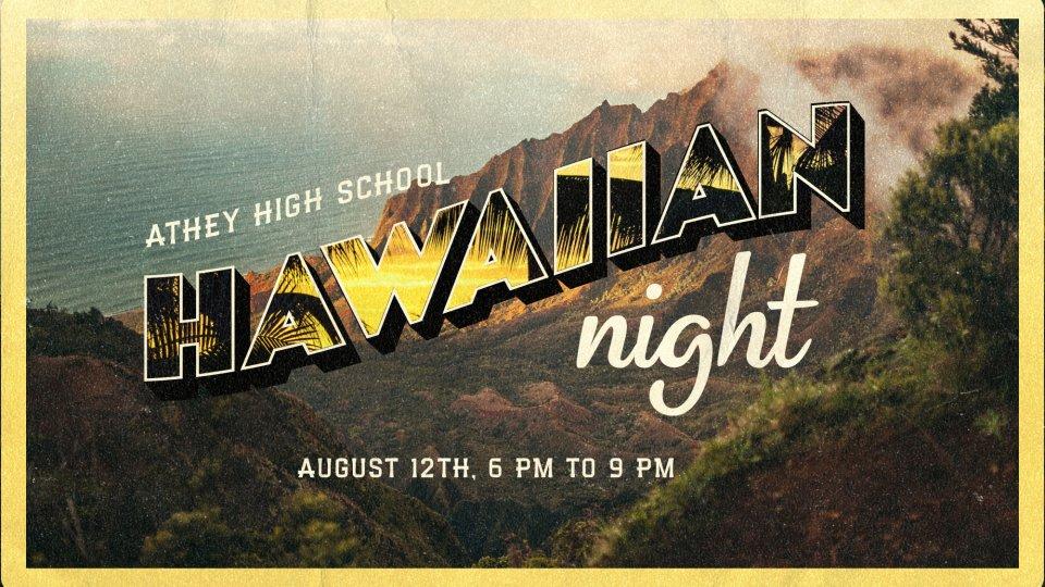 Poster forHS Themed Nights: Hawaiian Night