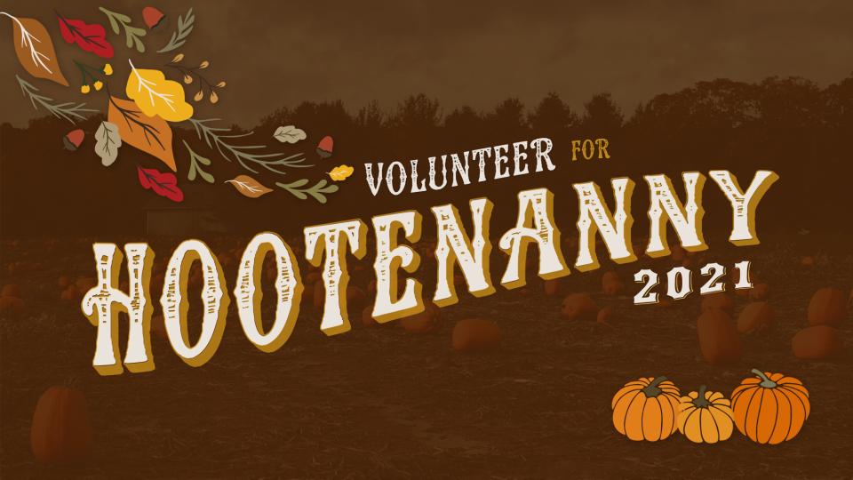 Poster forVolunteer for Hootenanny 2021