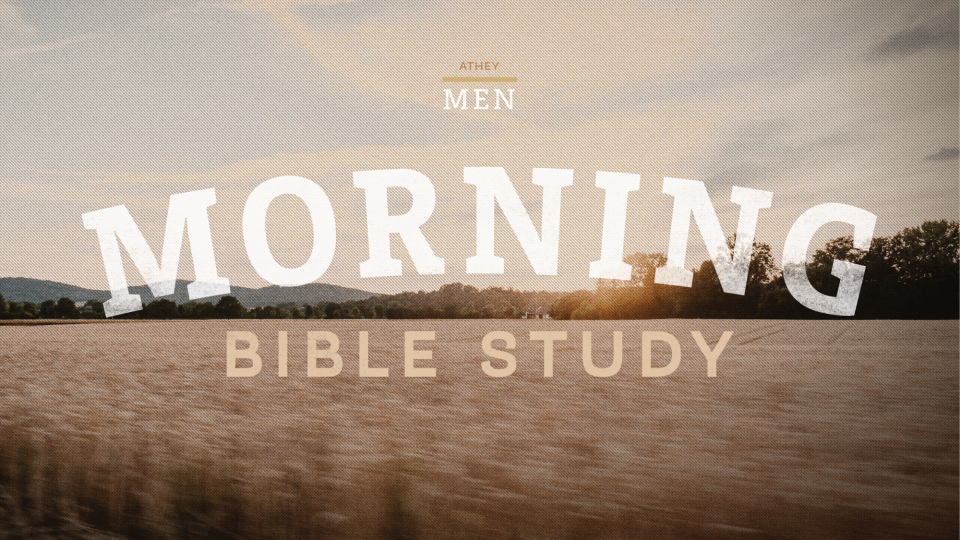 Poster forMen's Morning Bible Study