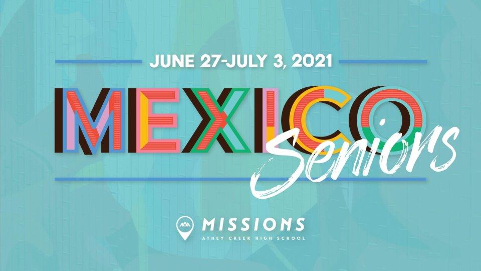 Poster forSenior Mexico Trip