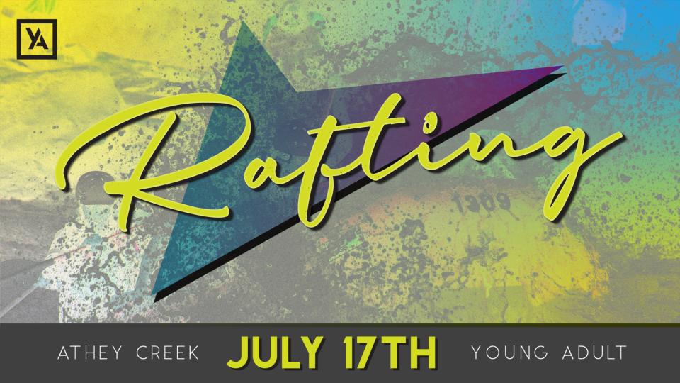 Poster forYA Rafting Trip