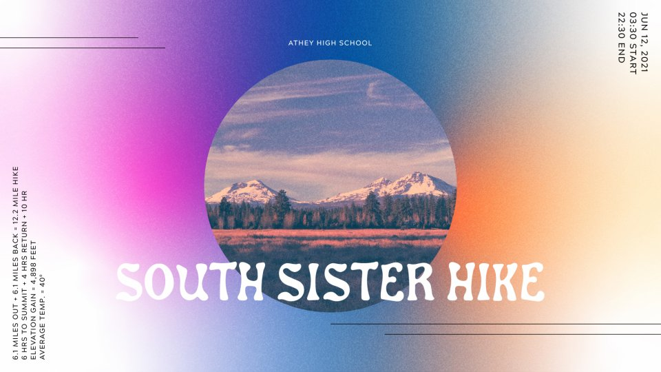 Poster forHS South Sister Hike