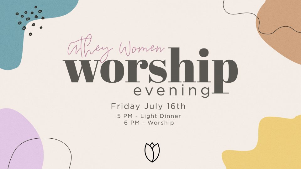 Poster forAthey Women Worship Evening