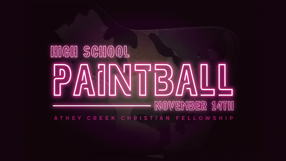 Poster forHigh School Paintball