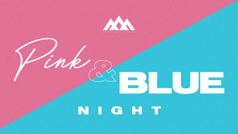 Poster forHS Themed Nights: Pink and Blue Night