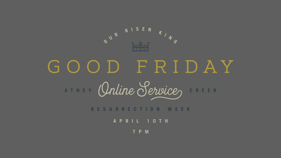 Poster forGood Friday Service